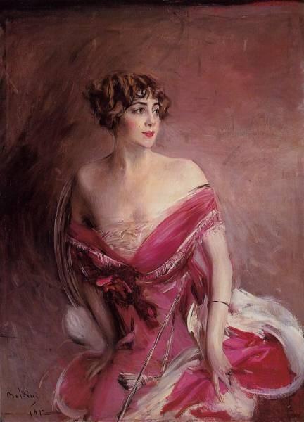 Portrait of Mlle de Gillespie La Dame de Biarritz